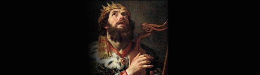 Painting of King David by Gerrit van Honthorst (1590 - 1656)