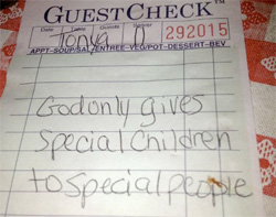 """The """"God gives special children to Credit: WBTV-TV"""