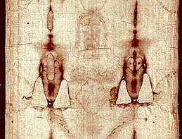 Was radiation part of the power of Jesus' resurrection? Photo Shroud of Turin: Wikipedia