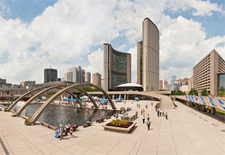 City of Toronto in hot water over financing a mural depicting a Jihadi battle cry. Photo Toronto City Hall: by Paolo Costa Baldi. License: GFDL/CC-BY-SA 3.0