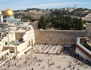 Messianic Jews are persecuted in Israel. Photo Dome of the Rock and Western Wall in Jerusalem: Wikipedia/Golasso