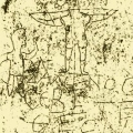 """Graffiti on a Roman wall dated to the first century. It depicts a man worshipping a crucified donkey. The words read """"Alexamenos worships [his] god."""" It is believed Roman soldiers were mocking a Christian solder. Wikipedia"""
