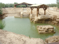 The purported spot on the Jordan River where Jesus was baptized. Photo Wikipedia/producer