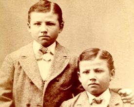 Identical twins circa 1890s.