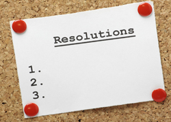 Making resolutions that stick.
