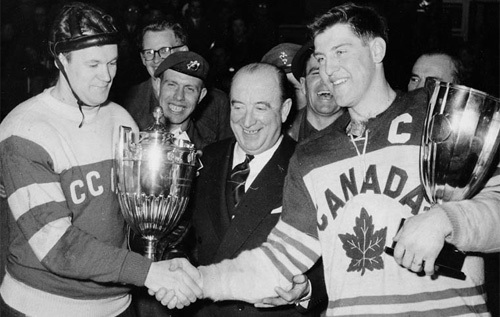 Penticton Vs winning the 1955 World Ice Hockey Championship