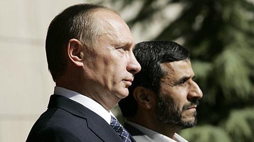 Russian President Vladimir Putin with Iranian President Mahmoud Ahmadinejad in Iran 2007: Wikipedia/www.kremlin.ru
