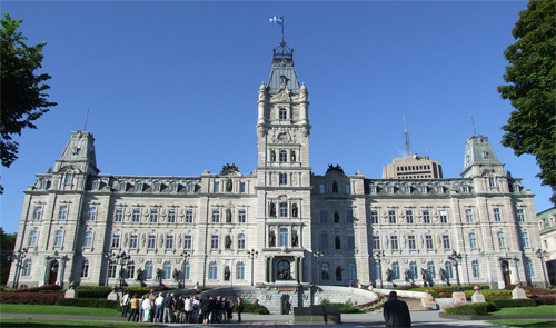 Why does the Quebec government want to force Christians to teach Wicca? Photo Quebec legislature: Wikipedia Christophe.Finot