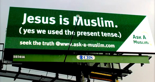 One of the billboards put up by Muslims in Columbus, Ohio Photo: News with views TV/YouTube