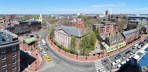 It is hard to believe Harvard University was started by Christians. Photo Wikipedia/Chensiyuan