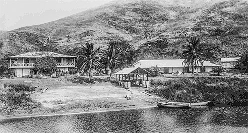 A photo of William's missionary base on the Vanga River in the Congo.