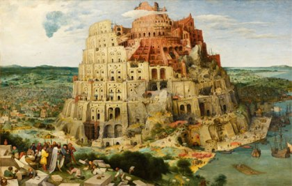 Was the Tower of Babel built by the world's first antichrist: Image Painting of Tower of Bable by Pieter Bruegel the Elder (1526-1569) Wikipedia