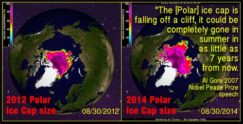 Polar Ice Cap Map The Polar Ice Caps Between
