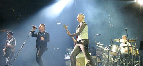 U2 in concert in 2009 Image: Wikipedia/SteBo