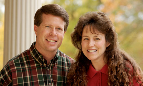 Are people allowed to disagree with biological males using female washrooms? Photo Jim Bob and Michelle Duggar Wikipedia