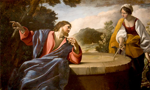 Jesus with the Samaritan Woman. Photo by Lawrence OP/Iwoman/CC BY-ND