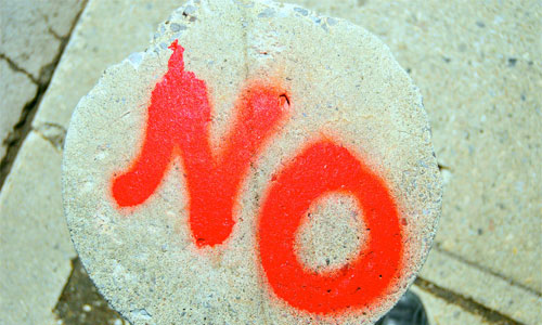 Don't feel guilty when you say NO! Image: Marc Falardeau/Foter/ CC BY