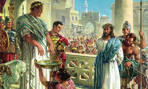 Image result for image of pilate washing his hands