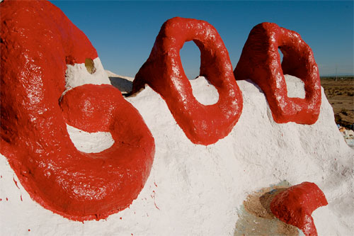 God is mentioned everywhere on Salvation Mountain Photo:bdearth/foter/CC-BY