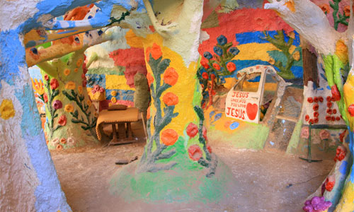 Inside Salvation Mountain. Photo: slworking2/foter/CC BY-NC-SA
