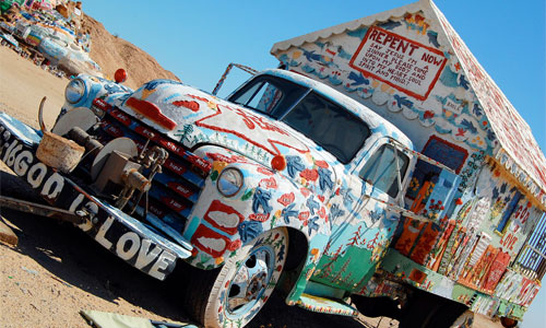 Leonard's painted camper trailer. Photo: swishphotos/foter/CC BY-NC-SA