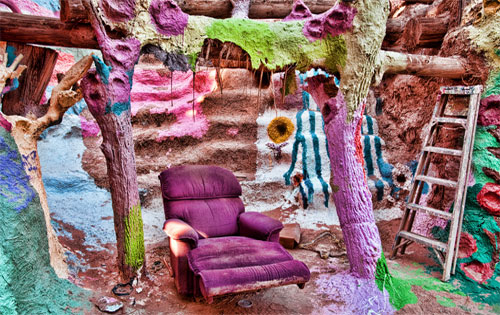 Salvation Mountain Lazy boy. Photo: clownhair magee/foter/cc-by-nc-sa