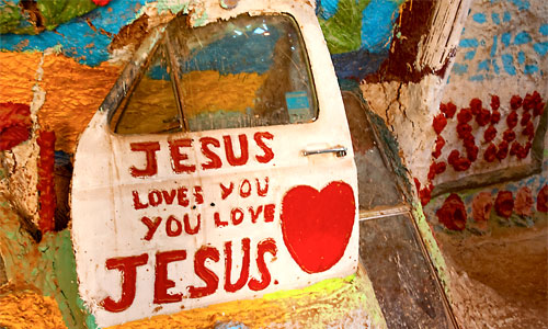 Jesus love you. Photo:  salvationmountain22-clownhair magee/foter/cc by-nc-sa