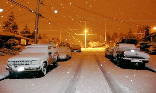 Snow in Seattle, but they promised no snow! Photo: Chuck.Taylor/Foter/CC BY-ND