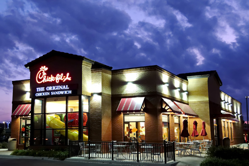 Chick-fil-A in the morning. Photo: Mark Turauckas/Foter/CC BY