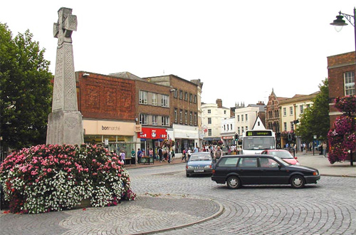 Main square in Tauton, Sommerset, England. Photo: Wikipedia/Arpingstore