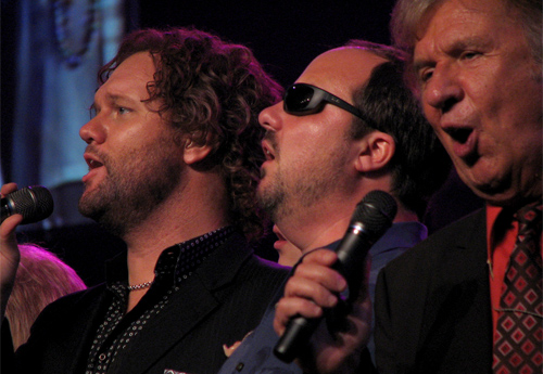 Bill Gaither trio in 2011 -- left to right David Phelps, Gordon Mote and Bill Gaither: Wikipedia/ruthdaniel3444
