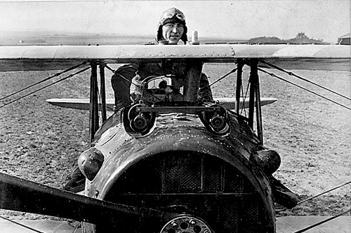 Eddie Rickenbacker with his SPAD S-XIII