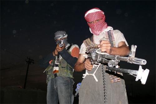 A 2006 photo of Iraqi terrorists. Photo Manendj/Wikipedia
