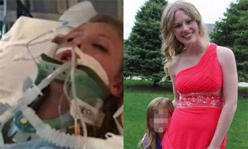 Taylor Hale goes from brain dead to graduation after friend lays hands on her for healing Photo Youtube capture
