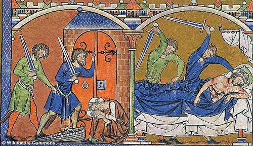 The assasination of Eshba'al from the Maciejowski Bible.