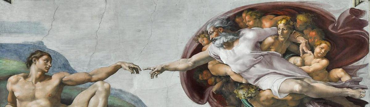 eve and Michelangelo adam