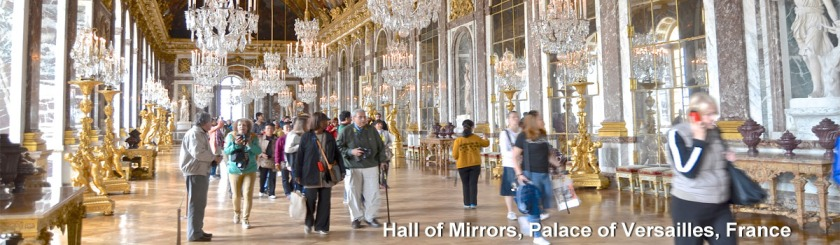 Hall of Mirrors, Palace of Versailles, Versailles, France Photo: David McSpadden/Foter/CC BY