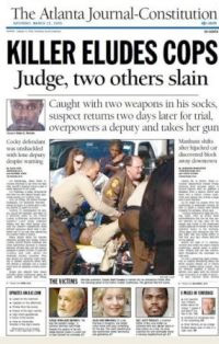 Front page of the Atlanta Journal Constitutional Photo: Assistnews.net