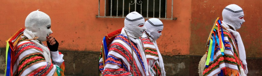 Masked men in Lima, Peru Photo: Alex Proimos/Flickr