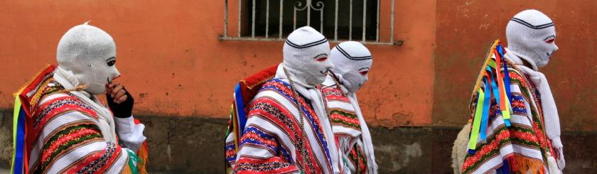Masked men in Lima, Peru Photo: Alex Proimos/Flickr