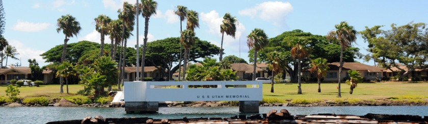 The monument marking the Sinking of the Arizona in Pearl Harbor Photo Expert Infantry/Flickr