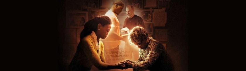 Clara praying with Elizabeth Photo: War Room/Facebook