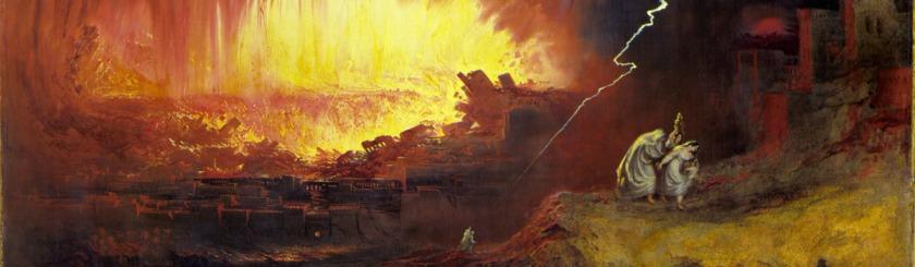 The destruction of Sodom and Gomorrah by John Martin (1789-1854)