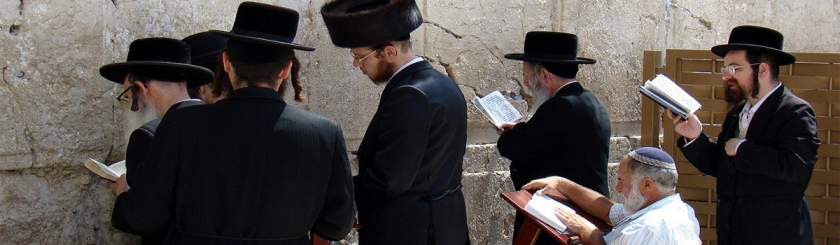 Orthodox Jews praying at the Western Wall in Jerusalem. Photo: Nico_/Flickr