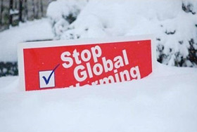 Global warming sign buried in snow: England/Source unknown