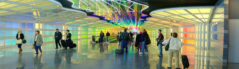Meeting Jesus at Chicago O'Hare Airport Photo: Ronald Woan/Flickr