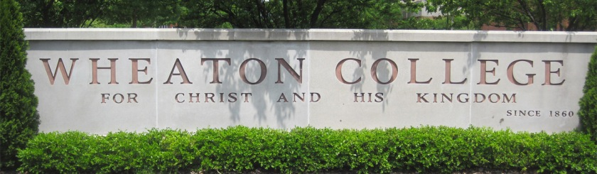 Sign displaying Wheaton College's motto Photo: Christoffer Lukas Muller/Wikipedia/Creative Commons