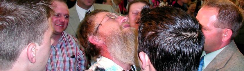 Pentecostal camp meeting in Colorado. Photo: Masonerecycleicious/Flickr/Creative Commons