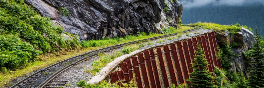 Navigating life with a one track mind. Photo: Blind corner Skagway line in Alaska Ted McGrath/Flickr.Creative Commons