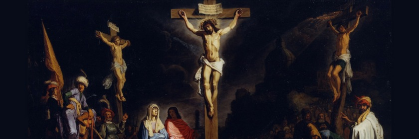 Crucifixion by Dutch painter Rembrandt Harmenszoon van Rijn (1606-1669)
